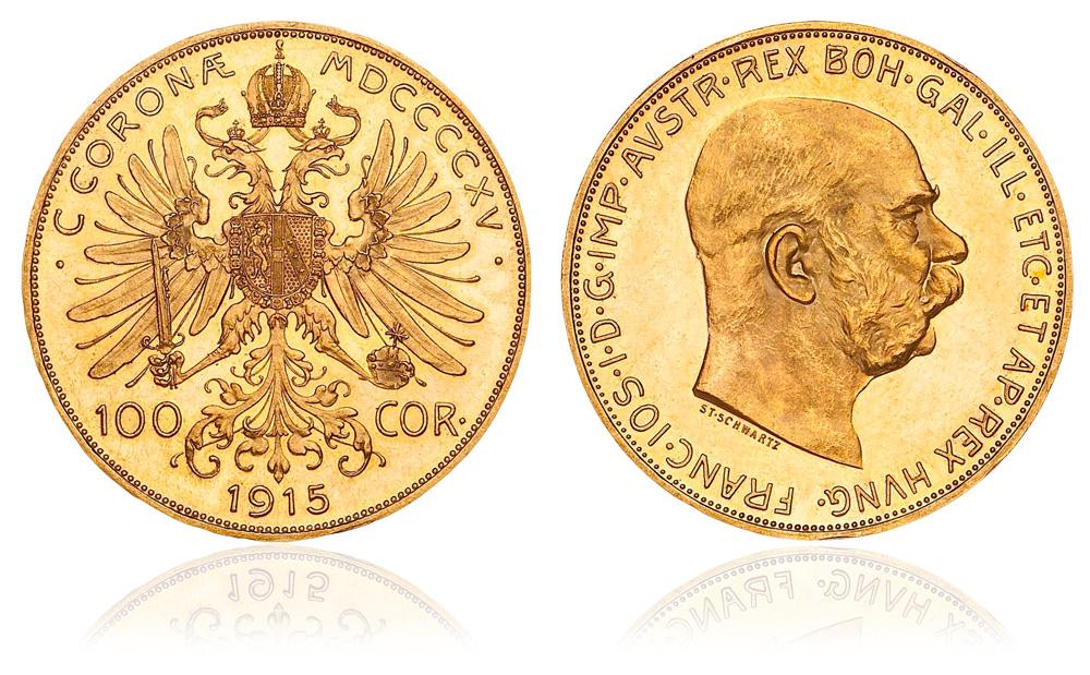 100 Corone Austria d'oro