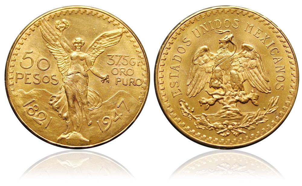 50 Pesos Mexico d'oro