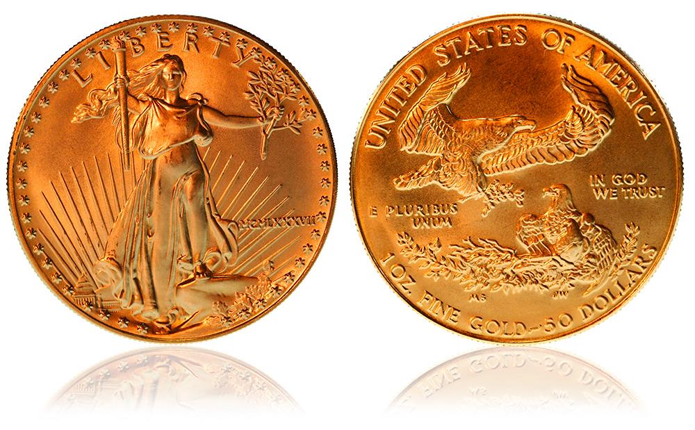 50 dollari american Eagle d'oro